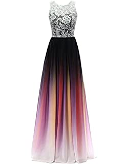 Shadi Bridal Womens Lace Ombre Long Prom Dresses Formal Evening Party Gowns
