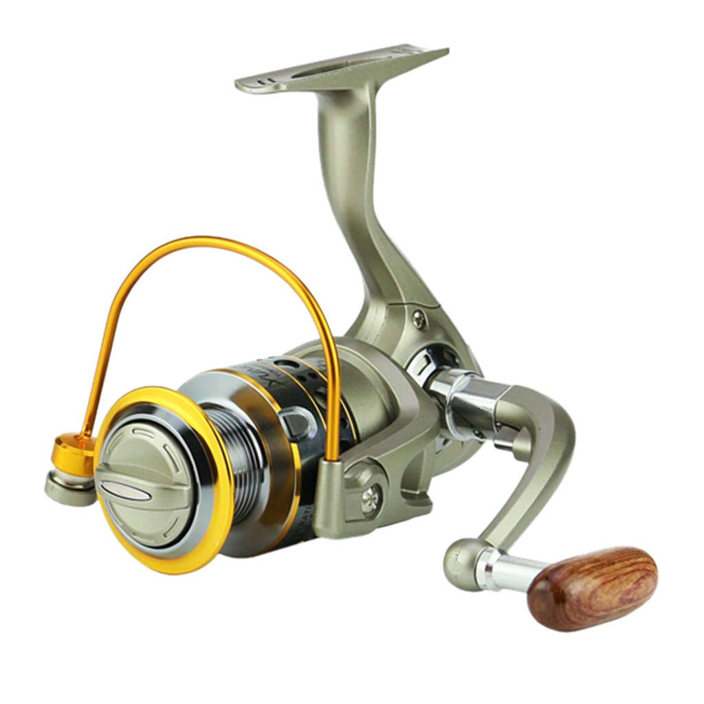 SMyFone Wheels Fish Spinning Reel 5.5:1Carretilhas Pescaria Molinete for YUMOSHI LC1000-7000 Series