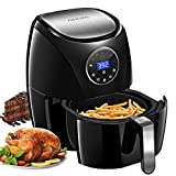 OMORC Upgraded LCD Touch Screen 4QT Air Fryer, Digital Air Fryer Oven w/
