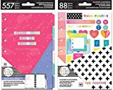 Mini Happy Planner Undated Six Month Dashboard Layout Extension and Mini Bright Accessory Pack
