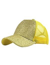 Honglixue Plain Baseball Visor Cap Unisex Glitter Hat Summer Outdoor Sun Protection Hats
