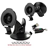 ChargerCity Rigid GripLock Dashboard Windshield Suction GPS Mount for Garmin Nuvi 2539 2557 2558 2559 2577 2589 2597 2598 2599 2689 2699 42 44 52 54 55 56 57 58 67 68 LM LMT LMTHD (replace 0101198300)