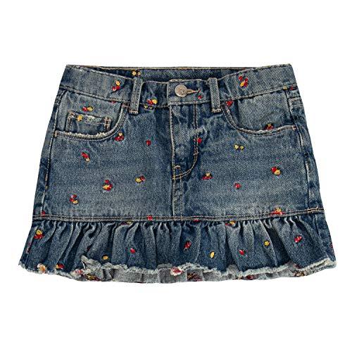 (Levi's Girls' Toddler Denim Scooter Skirt, Palisades, 4T)