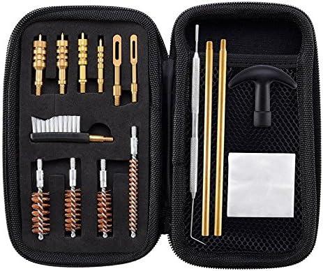 BOOSTEADY Kit de Limpieza Universal de Pistola de Calibre .22.357.38,9 mm.45 Juego de Limpieza de Pistola de Calibre Bronce Bore Brush y latón Jag Adapter