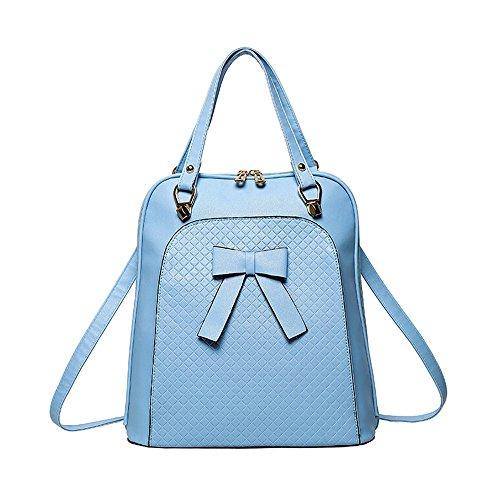 Meaeo Meine Damen Rucksack Rucksack Multifunktionale Tasche Single Schultertasche Student Beutel Neue Hot Pack, Schwarz blue