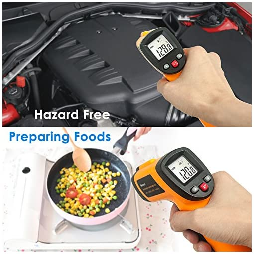Infrared Thermometer, Helect Non-Contact Digital Laser Infrared Thermometer