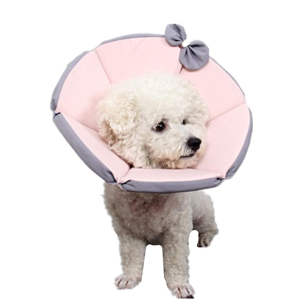ZPEM Pet Cone Anti-bite Surgery Recovery E Collar Dog Cat Wound Protective Head Cone Comfortable Adjustable Lightweight Collar Suitable for Pets 1-35kg,L