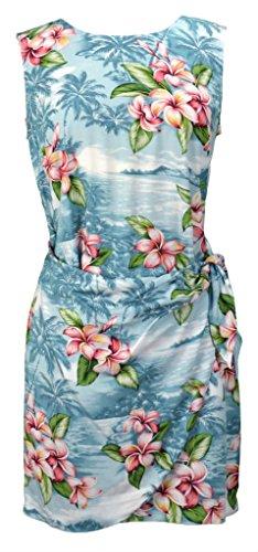 hawaiian wrap dress - 1