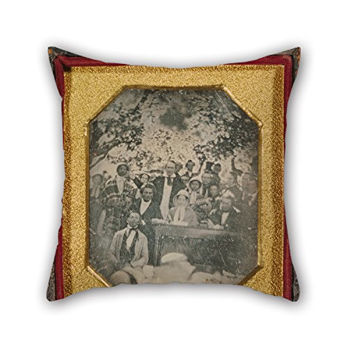 Throw Pillow Case Of Oil Painting Ezra Greenleaf Weld (American - Fugitive Slave Law Convention, Cazenovia, New York For Wife Living Room Festival Monther Adults Club 20 X 20 Inches -