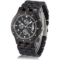 Men Watches Mens Wood Wrist Watch Analog Quartz Watch, Natural Handmade Watch W109D