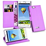 zte blade l2 phone cases - Cadorabo - Book Style Wallet Design for ZTE BLADE L2 with 2 Card Slots and Stand Function - Etui Case Cover Protection Pouch in PASTEL-PURPLE