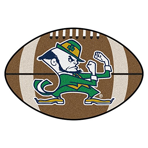 Fanmats NCAA Notre Dame Fighting Irish Nylon Face Football (Notre Dame Border)