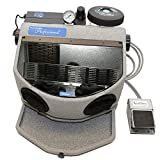 Dental Sandblaster by Vaniman | Sandblasting Cabinet with Dust Collector Enclosed System | Sandstorm Professional | No Mess, Foot Pedal, LED Lighting