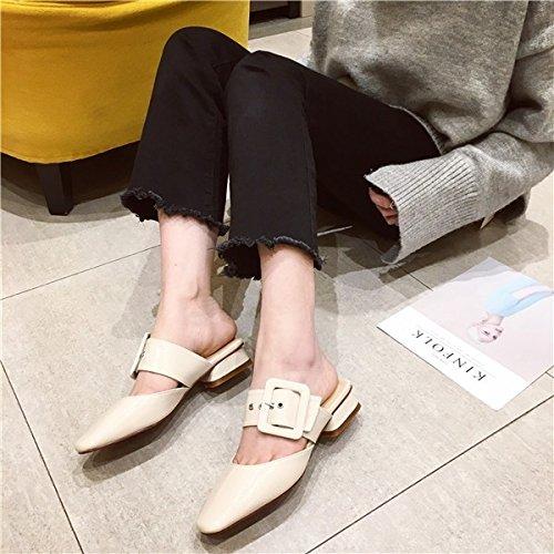 l'estate e primavera spessi sandali con sandali Apricot Qingchunhuangtang ciabatte scarpe e La ZwEqtt
