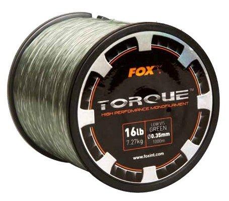 Fox Torque Line 1000m Karpfenschnur, monofile Schnur zum Karpfenangeln, Angelschnur für Karpfenrolle, Durchmesser/Tragkraft:0.35mm / 7.27kg Tragkraft