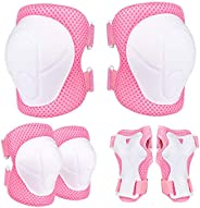 Ninonly Knee Pads Kids, Protective Gear Set for Kids Knee Pads Elbow Pads Wrist Guards