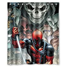 Brand New Game and Comics Deadpool Custom Shower Curtain 60x72 Inch Trendy