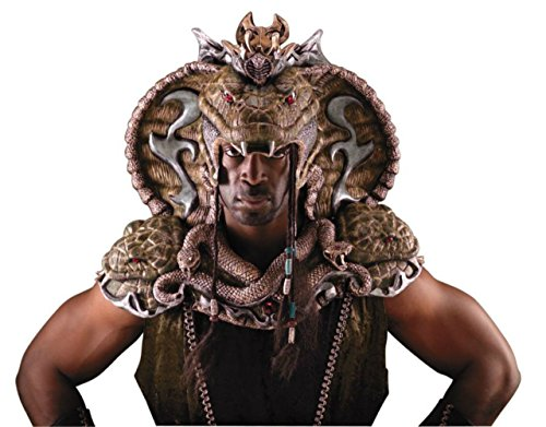 Serpent Lord Head And Shoulder Horror Adult Halloween Costume (Serpent Lord Costume)