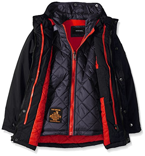 Diesel Big Boys' Outerwear Jacket (More Styles Available), Systems-DS10-Black/Charcoal, 10/12 by Diesel (Image #3)
