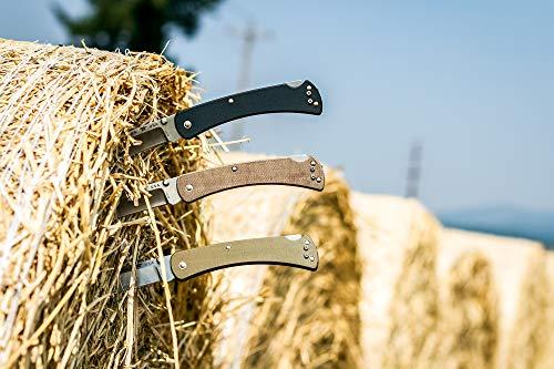 Buck Knives 0110BRS4 Folding Hunter Slim Pro Lockback Pocket Knife with Thumb Studs and Removable/Reversible Deep Carry Pocket Clip, Brown Micarta Handles, S30V Blade by Buck Knives (Image #3)