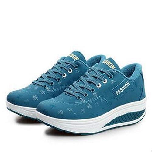 128e6a36c4b91 Amazon.com | Pophight Women Sneakers Breathable Waterproof Wedges ...