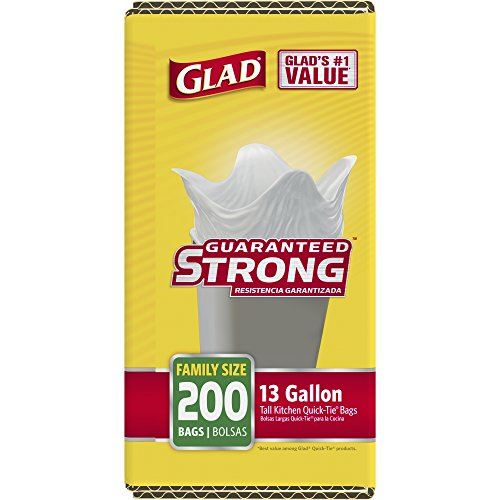 Glad Tall Kitchen Quick-Tie Trash Bags - 13 Gallon - 200 Count by Glad (Image #3)