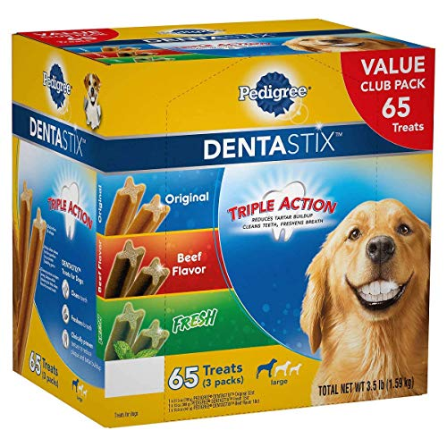 Pedigree Dentastix Treats Variety Pack (65Count/ 3.5 Lbs), 3.5 Lb