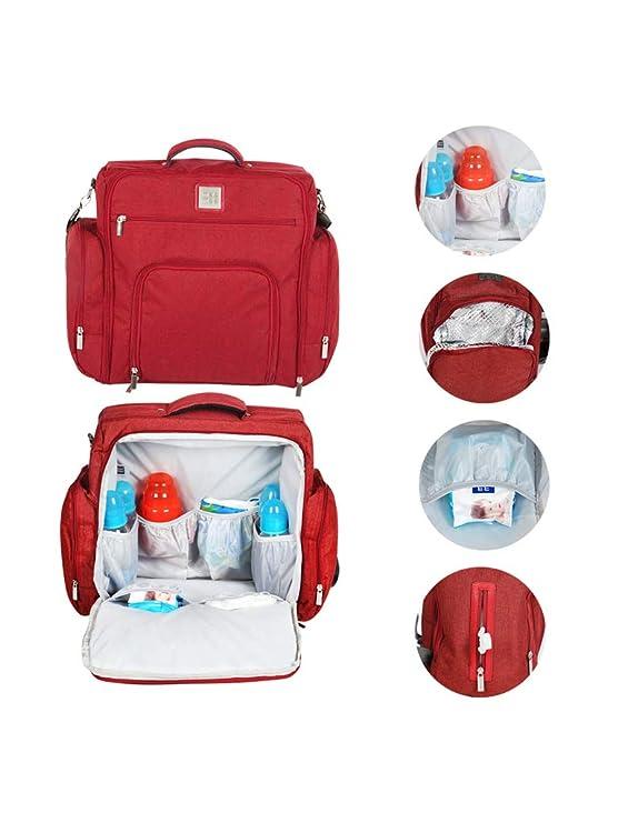Mee Mee Stylish Multi-Function Backpack-Style Diaper Bag, Maroon