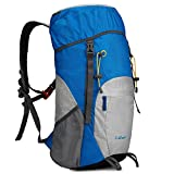 G4Free Large 40L Lightweight Water Resistant Travel Backpack/foldable & Packable Hiking Daypack(Blue/Silver)