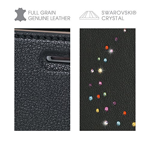 Bling My Thing ip7 de l de pri de MW Milky Way CCD Wallet série luxe et design unique brillant avec cristaux Swarovski, d'origine modisches Étui en cuir pour Apple iPhone 7 Plus Cotton Candy