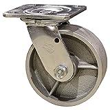 4'' Heavy Duty Swivel Caster - 4'' Semi Steel Cast Iron Wheel Service Caster Brand