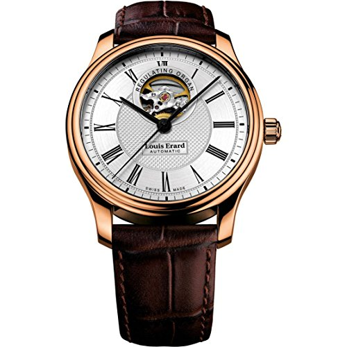 Louis Erard Men's Heritage 40mm Brown Leather Band Rose Gold Plated Case Automatic Watch 60267PR41.BRC03