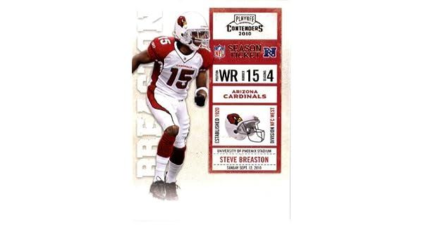 0fa4d0d12 Amazon.com  2010 Playoff Contenders Football Card  2 Steve Breaston -  Arizona Cardinals - NFL Trading Card  Collectibles   Fine Art
