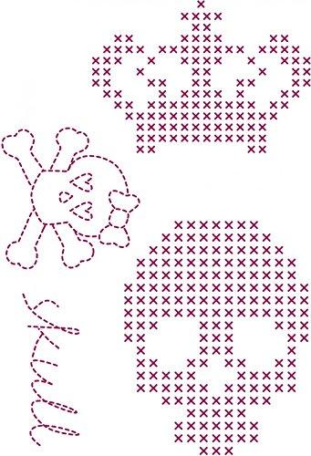 DMC Custom By Me Embroidery Transfer Magic Sheet Fun Skull (Dmc Embroidery Transfer)