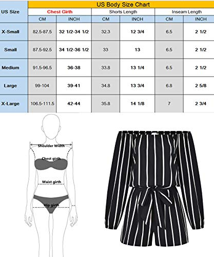 MISS MOLY Women Rompers and Jumpsuits Off The Shoulder Strapless Boat Neck Shorts with Belt by MISS MOLY (Image #7)