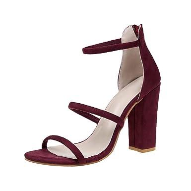 Wies Stilettos hohlen Leder hochhackigen Sandalen Schuhe, Beige, 38