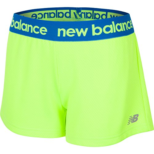 New Balance Girls Big Girls Performance Athletic Short Toxic/Reef