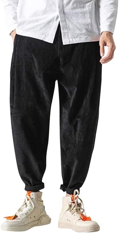 Pantalón Llinterna Hombre Estilo Vintage Suelto Pana Pantalones ...