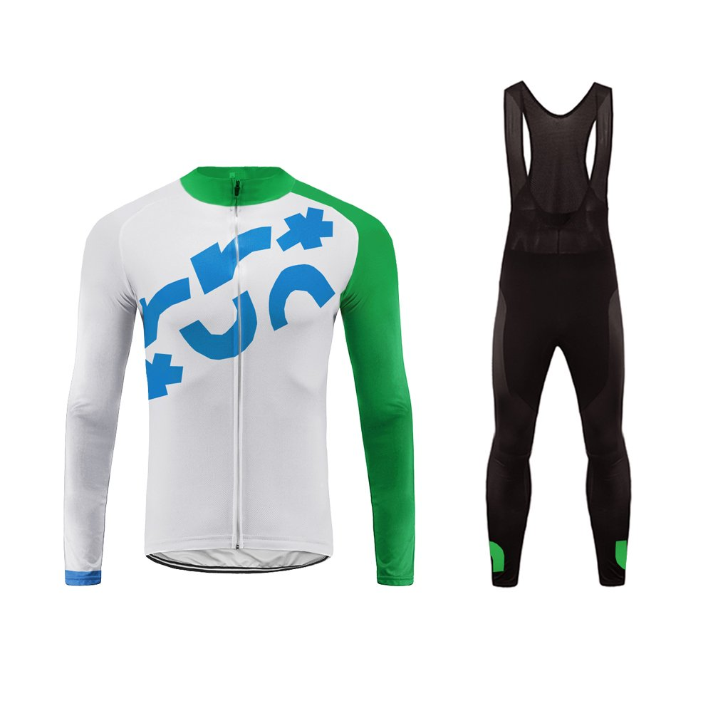 color 37 Small Uglyfrog Fashion Cycling Jersey Mens Winter Riding Tops+Pants Suits Warm R2
