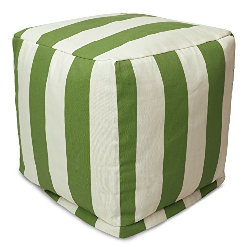Majestic Home Goods Sage Vertical Stripe Small Cube