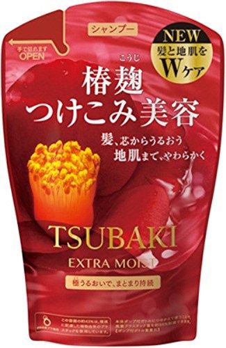 Tsubaki Extra Moist Shampoo Refill Pack 380ml Red 2015 Spring Edition Japan New