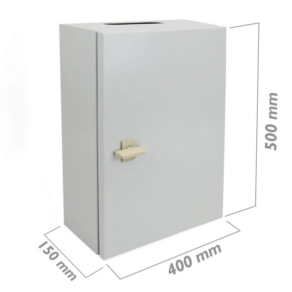 BeMatik - Metal electrical distribution box IP65 for wall mounting 500x400x150mm BeMatik.com