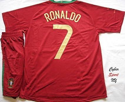 3b1f98027 Amazon.com   PORTUGAL National Team C. RONALDO Kids Soccer Jersey ...