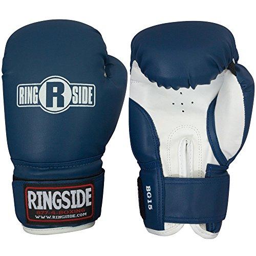Ringside Youth Striker Training Gloves, Blue/White