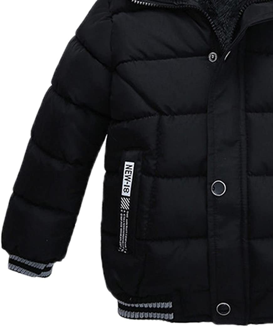 4T 2~3years , Black Sunbona Toddler Baby Boys Autumn Winter Down Jacket Coat Warm Padded Thick Outerwear Clothes