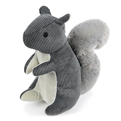 (Martha Stewart Corduroy Squirrel Bonded Mesh Dog Toy for Moderate Chewers)