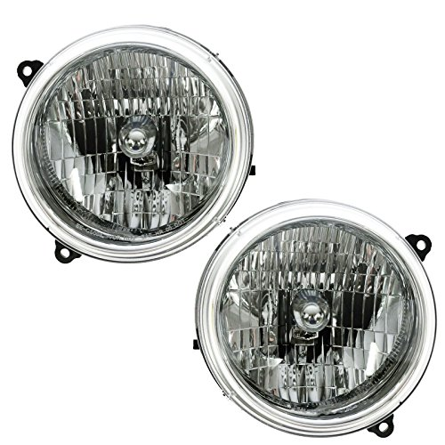 Headlights Headlamps Left & Right Pair Set for 02-04 Jeep Liberty