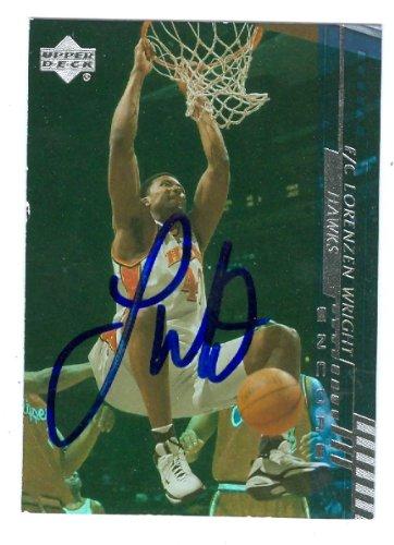 Autograph Warehouse 53089 Lorenzen Wright Autographed Basketball Card Atlanta Hawks 2001 Upper Deck Sp No .3