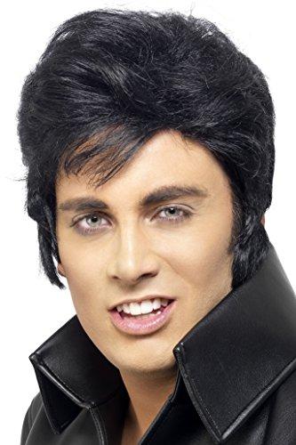 Adult Elvis Wig - Smiffys Male Elvis Wig - Black