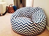Chevron pattern bean bags xxl with beans filled, Provides Ultimate Comfort, Great for Any Room and Office use by StyleCrome